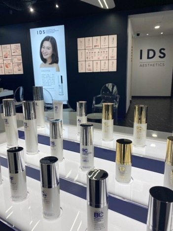 The IDS skincare range – PLENTY of options, all developed locally and extensively tested.