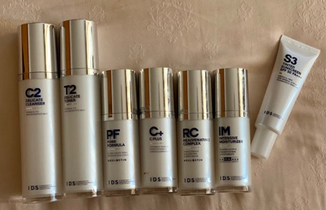 A rundown on what I got for my skin to be used in this order: C2 (Cleanser for normal to sensitive skin) > T2 (Toner for normal to sensitive skin) > PF (Pore Formula) > C+ (Vitamin C serum for the eye bags and dark rings) > RC (Rejuvenating Complex for the fine lines) > IM (Intensive Moisturiser for the flaky skin) > S3 (Tinted Sunscreen with SPF 50 PA+++)